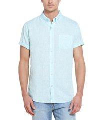 men's solid short sleeves shirt