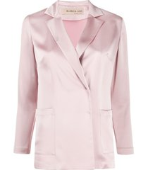 blanca vita gilda satin blazer - pink