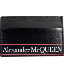 alexander mcqueen logo print card holder