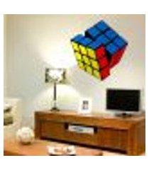 adesivo de parede cubo mágico colorido - p 45x40cm