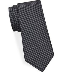 tonal geometric silk tie