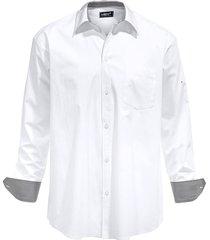 overhemd men plus wit