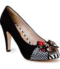 woms open toe shoes heels pumps classic multi/mönstrad tamaris