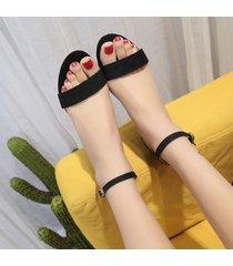 zapatos de tacones de dama verano medio del tobillo sandalias chunky tacones zapatos de mujer