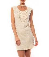 korte jurk vero moda starlight sl mini dress 10107349 beige