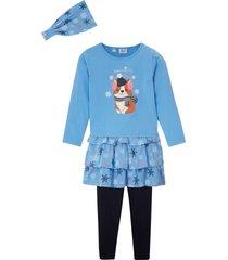 topp, kjol, legging och pannband för flickor (4 delar)