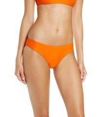 women's jade swim lure bikini bottoms, size medium - orange