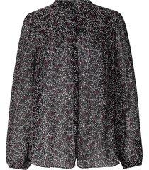 blouse met bloemenprint kaylan  zwart