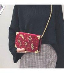 crossbody delle donne ricamate del velluto delle donne borsa spalle di svago borsa