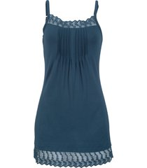 top con pizzo e spalline regolabili (blu) - bpc bonprix collection