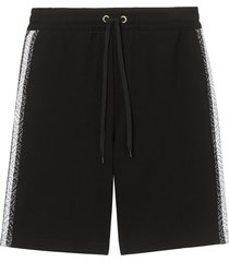 burberry striped casual shorts - black