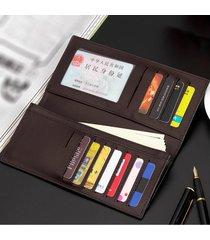 billetera, tarjetero ultra delgado de la cartera de-marrón