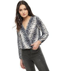 blusa io multicolor - calce regular