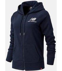 new balance vest women essentials fz hoodie eclipse