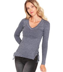 sweater wados jasp azul - calce ajustado