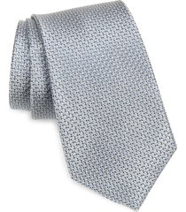 men's nordstrom barch micro neat silk tie, size regular - blue