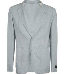 ermenegildo zegna patched cuff plain blazer