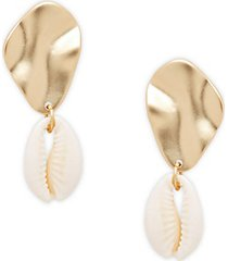 underwater shell drop earrings