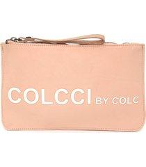clutch colcci silk rosa