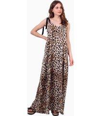 vestido bimba largo animal print jacinta tienda