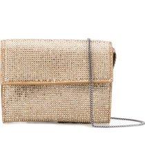 marco de vincenzo crystal embellished wallet - gold
