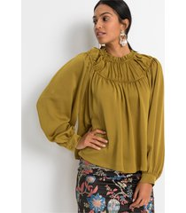 blouse in satijnen look