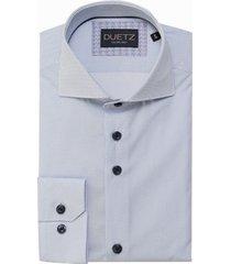 duetz1857 duetz 1857 dress overhemd stipprint wit