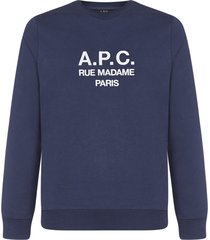 a.p.c. rufus cotton sweatshirt
