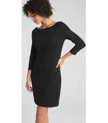 vestido cuello bote mujer negro gap