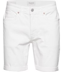 slhalex 418 white denim st shorts w jeansshorts denimshorts vit selected homme