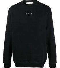 1017 alyx 9sm logo graphic print sweatshirt - black