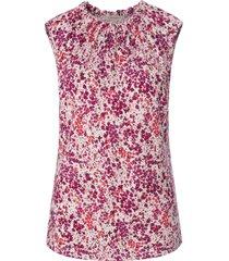 mouwloos shirt ronde hals en bloemetjesmotief van uta raasch multicolour