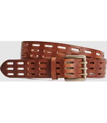 reiss taylor - leather cut work belt in tan, womens, size l