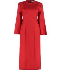 fendi wool and silk mini dress
