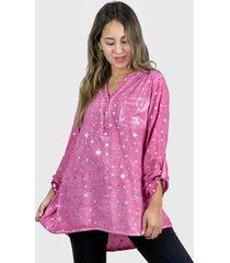 blusa estrellas boho chic rosado enigmática boutique