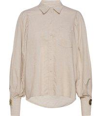darcie shirt overhemd met lange mouwen beige mother of pearl
