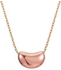 18k rose gold over sterling silver lovely bean design necklace