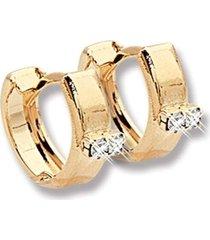 argola le diamond com micro zircônias dourada - tricae