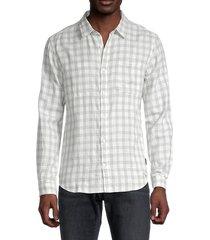john varvatos star u.s.a. men's regular-fit reversible long-sleeve shirt - pearl grey - size s