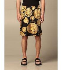 versace short versace silk shorts with medusa print
