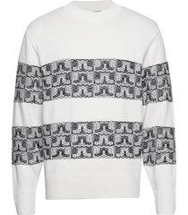macauley-wool coolmax stickad tröja m. rund krage vit j. lindeberg