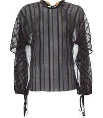 blusa feminina malaquite - preto