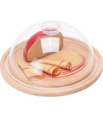 porta queijo frios queijeira bambu e poliestireno welf 24cm - multicolorido - dafiti