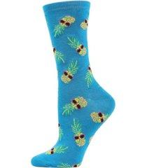 memoi pineapple sunglasses women's novelty socks