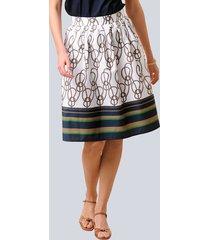 kjol alba moda vit::mullvad::marinblå