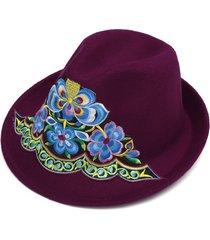 cappello da viaggio da donna con ricamo a vento caldo e parasole