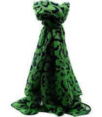 pashmina verde leblu