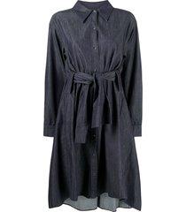 dorothee schumacher denim statement cotton shirt dress - blue