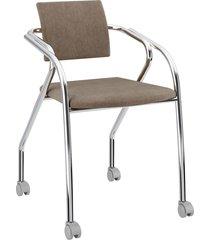 cadeira 1713 caixa com 1 tecido camurça móveis carraro bege