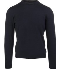 dark blue worsted wool man pullover